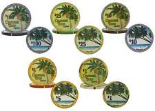 Ceramic Poker Chips Coconut Tree Casino Weight Clay Feel Marble Finish Jamaica