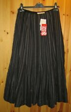 Adini 10 panelled fully lined gored skirt in corded chenille stripe 100% cotton