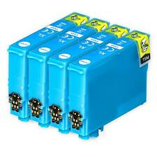 4 XL Cyan Ink Cartridges non-OEM to replace T1302 Compatible for Printers