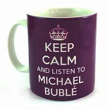 NEW KEEP CALM AND LISTEN TO MICHAEL BUBLE GIFT MUG CARRY ON COOL BRITANNIA RETRO