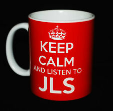 NEW KEEP CALM AND LISTEN TO JLS GIFT MUG CARRY ON COOL BRITANNIA RETRO