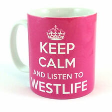 NEW KEEP CALM AND LISTEN TO WESTLIFE GIFT MUG CARRY ON COOL BRITANNIA RETRO