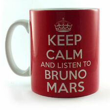 NEW KEEP CALM AND LISTEN TO BRUNO MARS GIFT MUG CARRY ON COOL BRITANNIA RETRO
