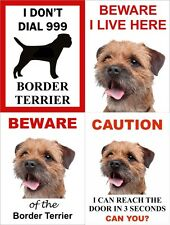 Border Terrier Dog Signs Available In 4 Styles