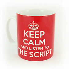 KEEP CALM AND LISTEN TO THE SCRIPT GIFT MUG CUP CARRY ON COOL BRITANNIA RETRO