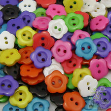 White/Pink/Purple/Orange/Blue/Red/Black plastic flower buttons Ø13mm 2 hole