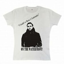"""On The Waterfront"" Girlscut T-Shirt, Classic Film, Marlon Brando, 1950's, Rebel"