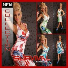 WOMENS NEW MINI DRESS RED GREEN BLUE SEXY SZ 6-8-10 PARTY CLUB CASUAL HOT SUMMER