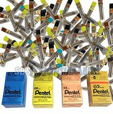 Pentel Hi-Polymer Refill Pencil Leads. 12 tubes 144 Leads 0.3, 0,5, 0.7, 0.9