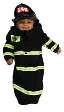 Firefighter Fireman Black Bunting Dress Up Halloween Baby Infant Child Costume