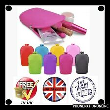 Ladies Silicone Cosmetic Makeup Bag Coin Purse Wallet phone Case Pouch fasion UK