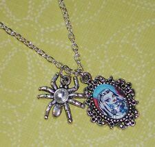 Monster High Glass Character Charm Necklaces - Rhinestone Spider Charm