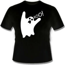 BOO!   GLOW IN THE DARK Ghost Funny T Shirt Tshirt for Halloween costume spooky