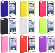 SOFT SILICONE GEL FLEXIBLE RUBBER SKIN COVER POUCH CASE FOR Apple iPhone 5 5G 5S