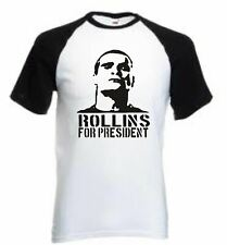 Rollins for President t shirt - Funny t-shirt comic Henry Rollins punk rock tv