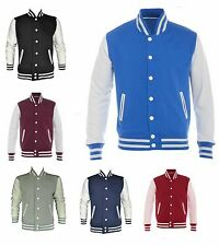 Mens Premium Varsity Jackets Size S to 2XL - SPORTS LEISURE WORK CASUAL 525