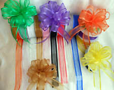 Pull Bow Ribbon Satin Edge Organza 25mm wide x 25 yard roll    Choose colour