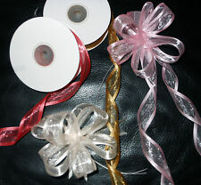 Pull Bow  Satin Edge Organza Ribbon 25mm wide   x 25yd roll  Choose Colour