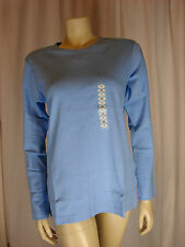 Falls Creek Ladies Long Sleeve Round Neck Blue Top Sizes  M