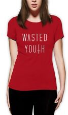 wasted youth Cross Women T-Shirt Hipster Geek Top Swag Indie Shop Dope