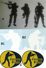 adesivi soldati militari sticker Casco Softair Moto Harley Auto Decals Fil