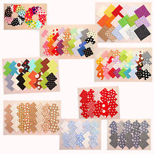 Stoffpakete Scraps Patches 5x5 + 10x10 cm Patchwork Stoffe - Punkte Dots Sterne