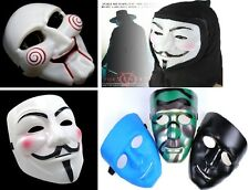 Maschera SAW L'ENIGMISTA e V for VENDETTA HALLOWEEN CARNEVALE indossabile Mask