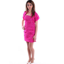 COCONUDA - ABITO DONNA ELEGANTE SERA FASHION VESTITO STOLA SEXY FUXIA art. VS920