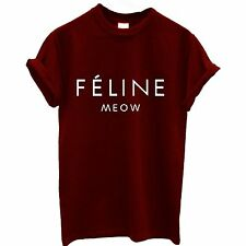 FELINE MEOW CAT t shirt FUNNY HIPSTER CARA TUMBLR DOPE SWAG TOP MENS DOPE BNWT