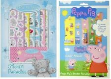 KIDS PARTY STICKER ALBUM PARADISE BIRTHDAY PARTY STICKERS PEPPA PIG OR ME TO YOU