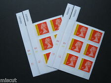 2013 APRIL NEW TARIFF - 1st Class Royal Mail Signed for Recorded Cyl Block of 6