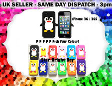 Cute Cool Fun 3D Animal Penguin Soft Silicone Case Cover Fits iPhone 3G / 3GS