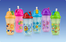 """Nuby Insulated Decorated Flip-it straw beaker """"No-Spill"""" 9oz/270ml (12 months+)"""