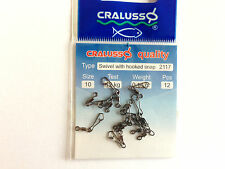 Cralusso double  swivel quicksnap  Quick Snap sizes  8//10.set//2  hooklength