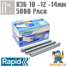 Rapid R36 Cable Staples 5000 Pk For R36, Arrow T25, Rapesco CT60 - 10, 12, 14mm