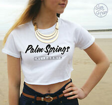 * PALM SPRINGS Crop Top Retro Tank Tumblr Hipster Fashion 90's Swag Fresh Dope *