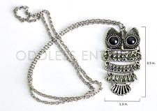 Vintage Style Gothic Victorian Dangle Big Eye Owl Animal Bird Pendant Necklace