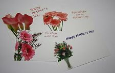 MOTHERS DAY message card florist flower tributes flowers CHOICE OF QUANTITY