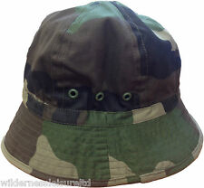 Bush / Bonnie Hat Army Military Surplus Woodland DPM Camo Cap Cadet
