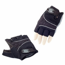 Eigo 3D-Back Fingerless Sports Cycling / Cycle Mitts / Road / Gloves - Black