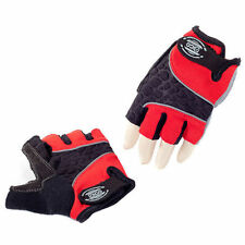 Eigo 3D-Back Fingerless Sports Cycling / Cycle Gloves / Mitts / Road / MTB - Red