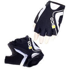 New Cycling Eigo Track Fingerless Sports Gloves/Mitts - Black/White Free P&P
