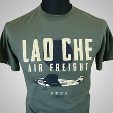Lao Che Air Freight Retro Movie T Shirt Indiana Jones Temple Doom Green