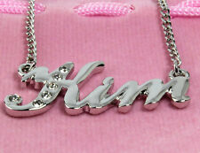 890e5a11f8f6f Name Necklace KIM 18ct Gold Plated Personalised Birthday Gifts ...