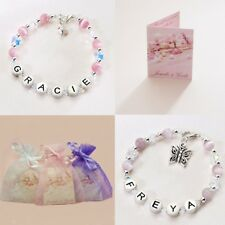 Personalised Jewellery for Children, Named Bracelets for Girls, Butterfly Theme