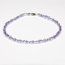 Violet Crystal Twisted Anklet made with Swarovski Elements