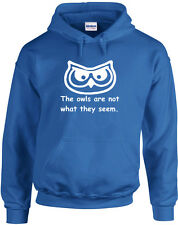 The Owls Are Not What They Seem, Twin Peaks inspired Printed Hoodie