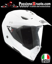 Casco enduro off road motard atv quad moto Agv Ax8 Ax-8 Dual Evo Bianco