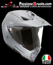 Casco enduro off road motard atv quad Agv Ax-8 Dual Evo Titan Grey helmet casque