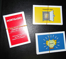 Spare/replacement DEEDS, CHANCE or COMMUNITY CHEST cards Simpsons Monopoly 2003